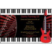 Red Rock Guitar Personalized Invitations