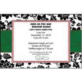 Black Floral Personalized Invitataions