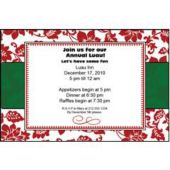 Red Floral Personalized Invitations