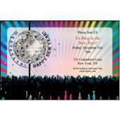 New Year's Disco Ball Custom Invitations