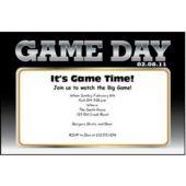 Super Game Day Personalized Invitations