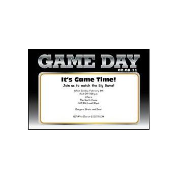Super Game Day Personalized Invitations
