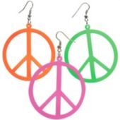Neon Peace Earrings - 12 Pack