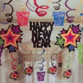 New Year Swirl Decorations-30 Pack