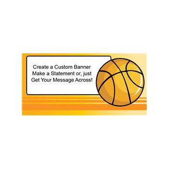 Basketball Game Custom Banner (Variety of Sizes)