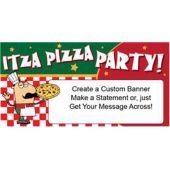 Itza Pizza Party Custom Banner (Variety of Sizes)