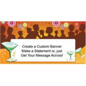 Cocktail Party Custom Banner (Variety of Sizes)