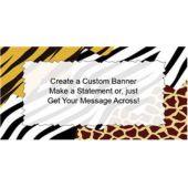 Jungle Print Custom Banner