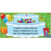 Birthday Cake Custom Banner