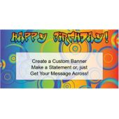 Birthday Rainbow Circles Custom Banner