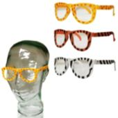 Animal Print Child Size Glasses - 12 Pack