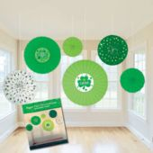 St. Patrick's Day Decorative Fans-6 Per Unit
