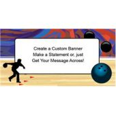 Bowling Party Custom Banner