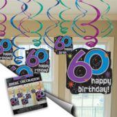 60th Birthday Swirl Decorations-12 Pack