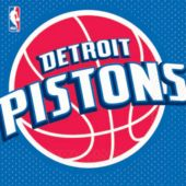 Detroit Pistons Lunch Napkins - 16 Pack