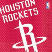 Houston Rockets Lunch Napkins - 16 Pack