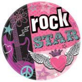 """Rocker Girl 9"""" Plates - 8 Pack"""