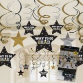 Graduation Star Swirl Decorations-30 Pack