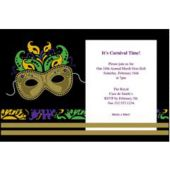 Mardi Gras Magic Personalized Invitations