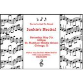 Musical Notes Personalized Invitations