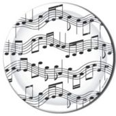 "Musical Notes 9"" Plates - 8 Pack"