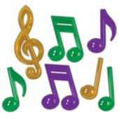 Mardi Gras Musical Notes-7 Per Unit