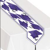 Purple Graduation Table Runner