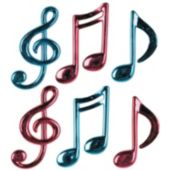 Musical Notes-6 Pack