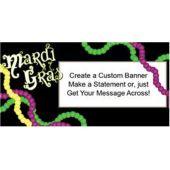 Mardi Gras Party Custom Banner