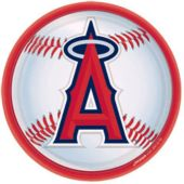 "Los Angeles Angels 9"" Plates - 18 Pack"