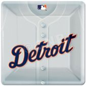 "Detroit Tigers 10"" Square Plates - 18 Pack"