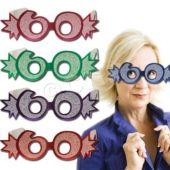 60 Glitter Foil Glasses - 25 Pack