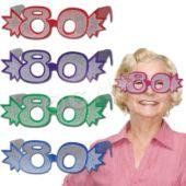 80 Glitter Foil Glasses - 25 Pack