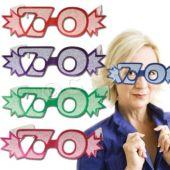 70 Glitter Foil Glasses - 25 Pack
