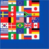 International Flag Lunch Napkins - 16 Pack