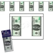 $100 Bill Pennant Banner Decoration