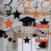 Orange Graduation Swirls-30 Pack