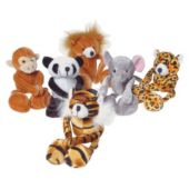"Plush Wild Animals-71/2""-12 Pack"
