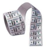 "$100 Bill 1 5/8"" Stickers - 100 Pack"