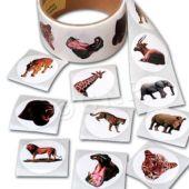 "Wild Animal 1 1/2"" Stickers - 100 Pack"