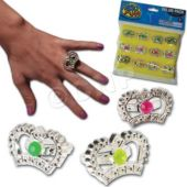 Crown Rings - 12 Pack
