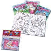 """Princess 5"""" Coloring Books - 12 Pack"""
