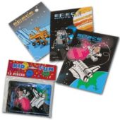 "Space 5"" Coloring Books - 12 Pack"