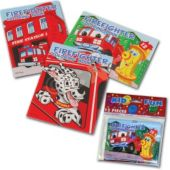 "Firefighter 5"" Coloring Books  - 12 Pack"