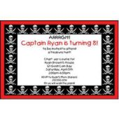 Pirate Party Personalized Invitations
