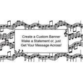 Musical Notes Custom Banner