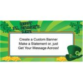 St Patrick's Day Green Custom Banner (Variety of Sizes)