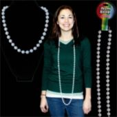 White Pearl Bead Necklace-60""