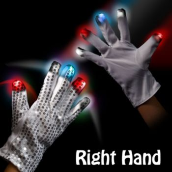 Patriotic LED Sequin Glove