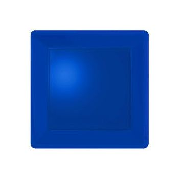 "ROYAL BLUE SOLID SQUARE 10"" PLATES"